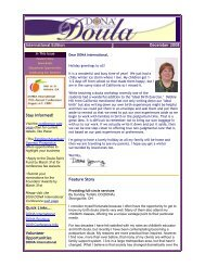 International Edition December 2008 Stay informed! - DONA ...