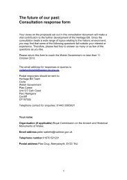 The future of our past: Consultation response form - Royal ...