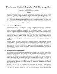 L'enseignement de la théorie des graphes à l'aide d ... - gerad