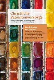 Christliche Patientenvorsorge - Deutsche Bischofskonferenz