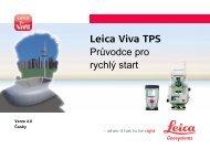 Leica Viva TPS Průvodce pro rychlý start - Gefos