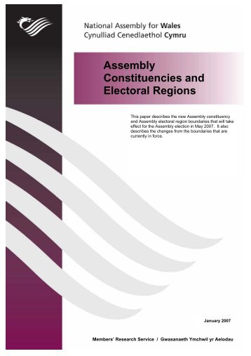 Assembly Constituencies and Electoral Regions - National ...