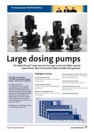 Large dosing pumps - Grundfos E-Newsletter