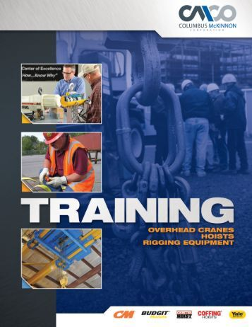 CMCO Training Catalog - Columbus McKinnon Corporation