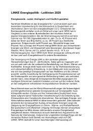 LINKE Energiepolitik - Leitlinien 2020 - Sagel, Rüdiger (Die Linke)