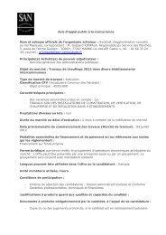 Travaux de chauffage 2012 dans divers établissements ...