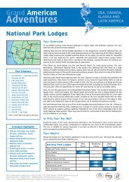 National Park Lodges Tour Information - Adventure Holidays