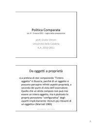 lezione 04.pdf - Facolta' di Scienze Politiche - Università della ...