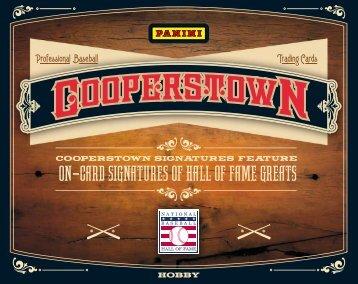 2013 Panini Cooperstown Baseball Product Information Sheet