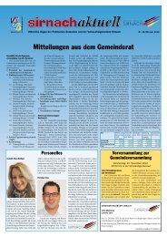 Sirnachaktuell Oktober 12 [PDF, 4.00 MB] - Gemeinde Sirnach