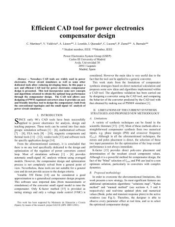 Efficient CAD tool for power electronics ... - PSIM for Europe