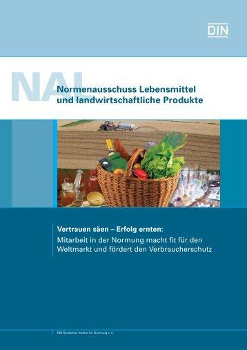 Normenausschuss Lebensmittel und landwirtschaftliche ... - NAErg