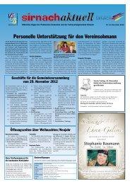 Sirnachaktuell November 12 [PDF, 2.00 MB] - Gemeinde Sirnach