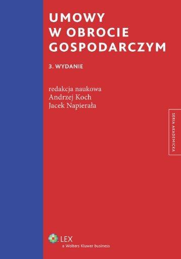 umowy w obrocie gospodarczym 3. wydanie - Księgarnia ...