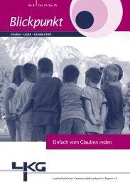 Blickpunkt - Landeskirchlicher Gemeinschaftsverband in Bayern e.V.