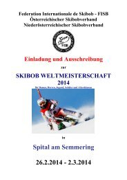 Ausschreibung WM Spital am Semmering - Federation ...