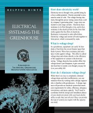 ELECTRICAL SYSTEMS & THE GREENHOUSE