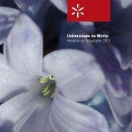 Universidade do Minho Relatório de Actividades 2007