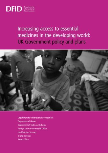 Increasing access to essential medicines in the developing world ...