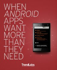 When Android Apps want more than they need [PDF] - Trend Micro