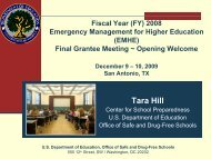 Tara Hill - Readiness and Emergency Management for Schools ...