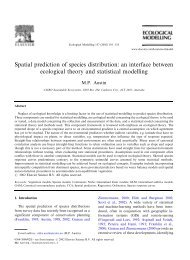 Spatial prediction of species distribution: an ... - ResearchGate