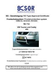 VW Caddy - Cobra-SOR