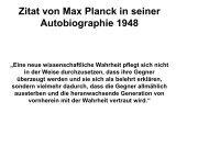 Zitat von Max Planck in seiner Autobiographie 1948