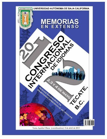 Memorias Congreso - Facultad de Idiomas Ensenada - Universidad ...