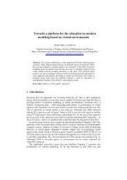 Towards a platform for the education in emotion modeling based on ...