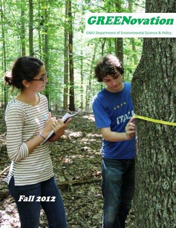 Fall 2012 - Environmental Science and Policy - George Mason ...