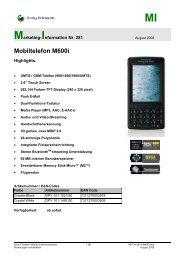 Mobiltelefon M600i - Mobileplus