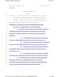 Page 1 of 8 Read Bill - SB 966 - Engrossed 2/22/2009 http://www ...