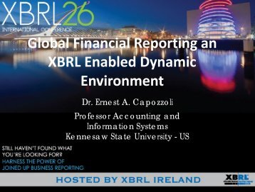 Global Financial Reporting an XBRL Enabled Dynamic Environment