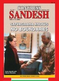satyagraha knows no boundaries - Congress Sandesh
