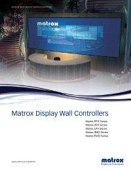 Matrox Display Wall Controllers - 3G Electronics Srl