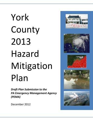 York County 2013 Hazard Mitigation Plan Table of Contents
