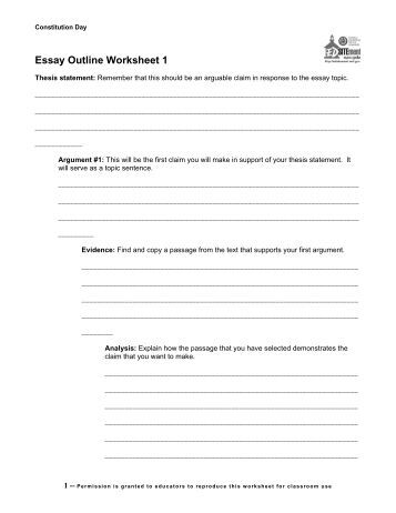 persuasive essay outline worksheet