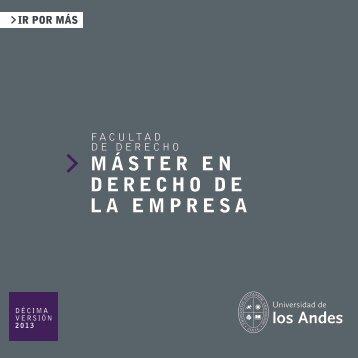 máster en derecho - Universidad de los Andes