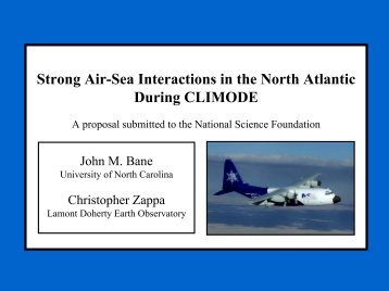 Strong Air-Sea Interactions in the North Atlantic During CLIMODE A ...