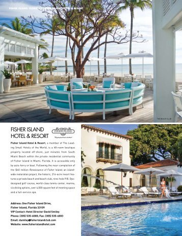 Fisher Island Hotel & Resort Special Section - Elite Traveler