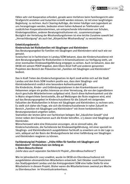 Jahresbericht 98 mit Falldarstellung des Kinderschutzdienstes