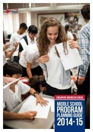 Program Planning Guide - Singapore American School