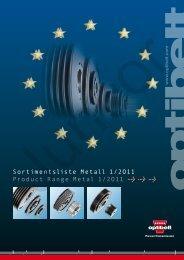 Sortimentsliste Metall 1/2O11 Product Range Metal 1/2O11 ... - Juncor