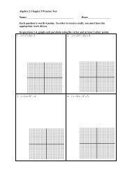Algebra 2 Chapter 5 Practice Test Name - Mona Shores Blogs