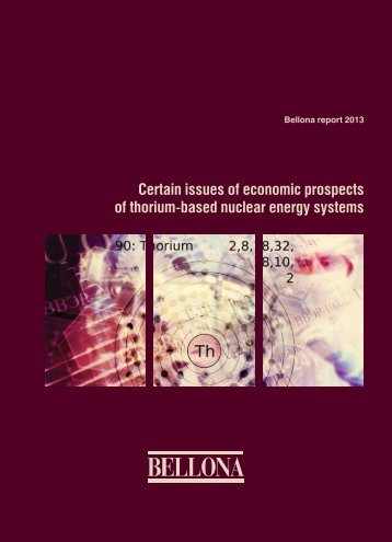 Certain issues of economic prospects of thorium-based ... - Bellona