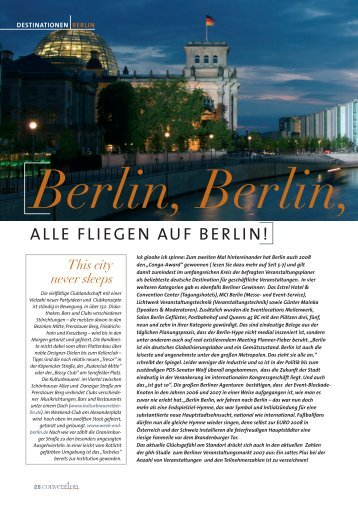 ALLE FLIEGEN AUF BERLIN! - Convention-International