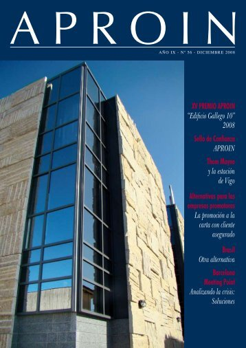 """XV PREMIO APROIN """"Edificio Gallego 10"""" 2008 Sello de Confianza ..."""