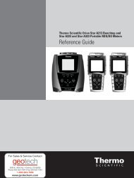 Thermo Scientific Orion Star A223 & A323 Ref - Geotech ...