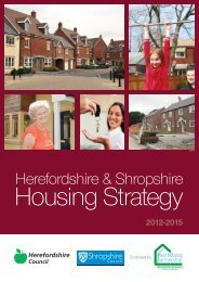 Housing Strategy 2012 - news.herefordshir... - Herefordshire Council